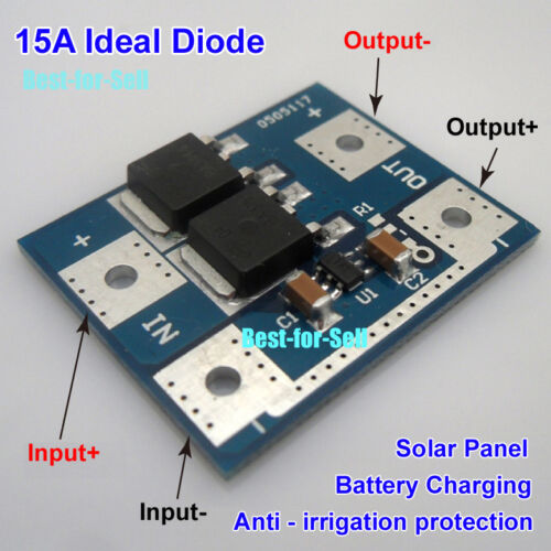 Ideal Diode,50A Solar Panel Battery Charging Anti Reverse Irrigation Protection Ideal Diode for Solar Panel