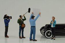 Figur Kamera Reporter Crew Racing Set 4 pcs 1:18 American Diorama no car