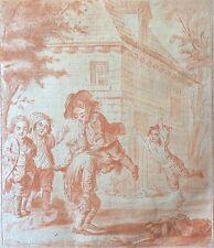 Augustin de Saint Aubin XVIII Le Coupe-Tête façon sanguine ! XVIII début XIX