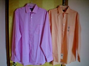 NWT-NEW-mens-VAN-HEUSEN-flex-stretch-dress-shirt-l-s-free-shipping