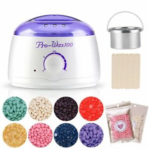 Salon-Spa-Hair-Removal-Hot-Wax-Warmer-Heater-Pot-Machine-Kit-300g-Waxing-Beans