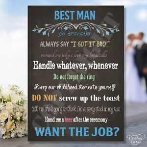 personalised will you be my best man usher groomsman invitation