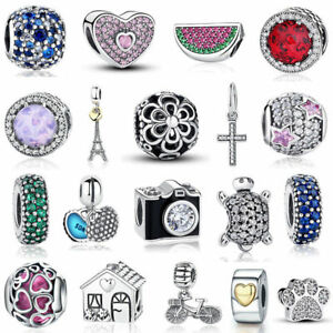 VOROCO-Beautiful-Charm-Beads-S925-Sterling-Silver-Pendant-For-Bracelets-Present