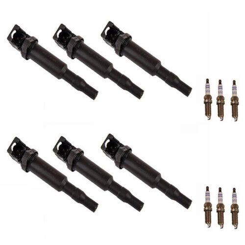 For BMW E82 E90 E92 128i 328i Set of 6 Direct Ignition Coils /& Spark Plugs BG1