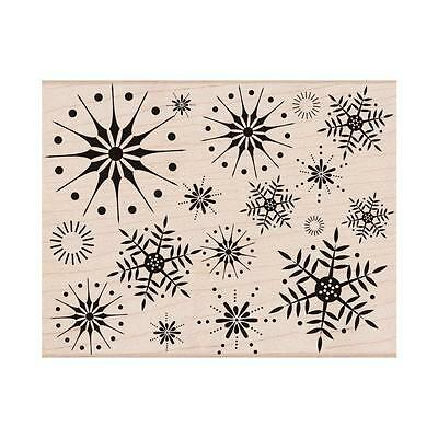 Hero Arts Wood-mounted Rubber Stamp STUNNING SNOWFLAKES S5069