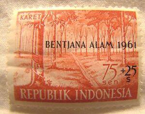Indonesia Stamp 1961 Scott B134 A76 Mint Flooding Overprint