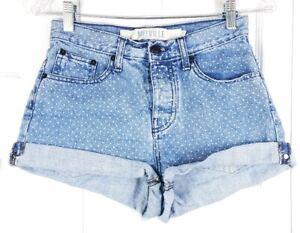 b1dc455d52b BRANDY MELVILLE women size 40 (26 waist) polka dot rolled cuff hem ...