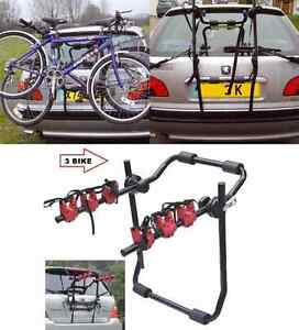 2-amp-3-BICYCLE-CARRIER-CAR-RACK-BIKE-CYCLE-UNIVERSAL-FITS-MOST-CARS-REAR-MOUNT