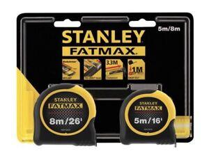 Stanley-Twin-Pack-STA081745-Fatmax-5m-8m-Classic-METRICA-imperiale-Metro-a-nastro