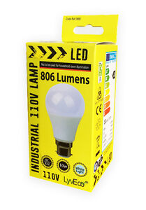 110V-LED-Light-Bulb-10W-806-Lumens-BC-4000K-GLS-Shape