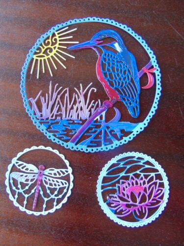 Tattered Lace Die Cuts Charisma Style KINGFISHER WATER LILY DRAGONFLY