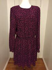 NWT MICHAEL KORS Pink Leopard Print Dress Size XL