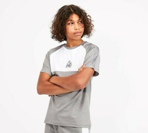Kings-Will-Dream-KWD-Kids-Junior-Short-Sleeve-Crew-Neck-T-Shirt-Grey-White-Yedon