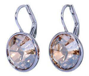 Swarovski-Elements-Crystal-Golden-Shadow-Bella-Earrings-Rhodium-Authentic-7170u
