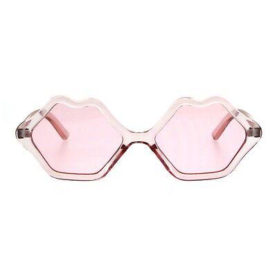 Cute Lip Shape Sunglasses Lips Kiss Womens Fashion Shades UV 400