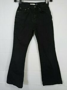 GAP-Girl-039-s-Black-Mid-Rise-Regular-Fit-Boot-Cut-Stretch-Jeans-size-7