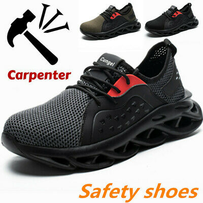 Mens Work Safety Shoes Steel Toe Cap Bulletproof Boots Indestructible Sneakers