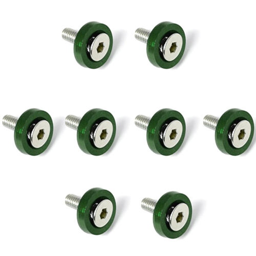 10 Pcs M6x20mm  Aluminum Fenders Bumper Anodized Washers With Bolts Dress Up