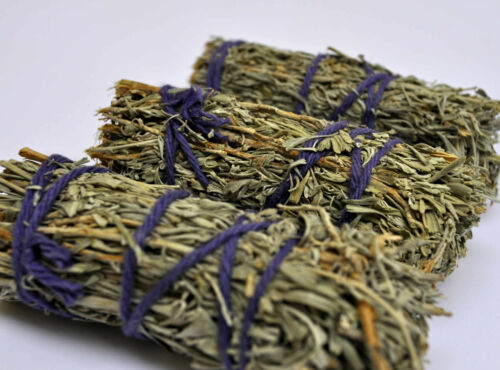 shamanic Pagan Wicca incense space cleansing Three White sage smudge sticks