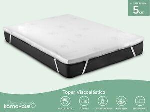 Top Topper Viscoelastico Cubrecolchón Colchoncillo Visco 5CM con funda Aloe vera