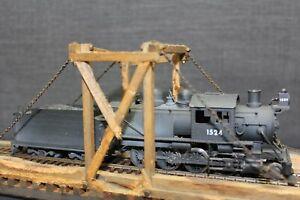 Vintage-HO-Painted-Brass-Mother-Hubbard-Camel-Back-2-8-0-Locomotive-amp-Tender