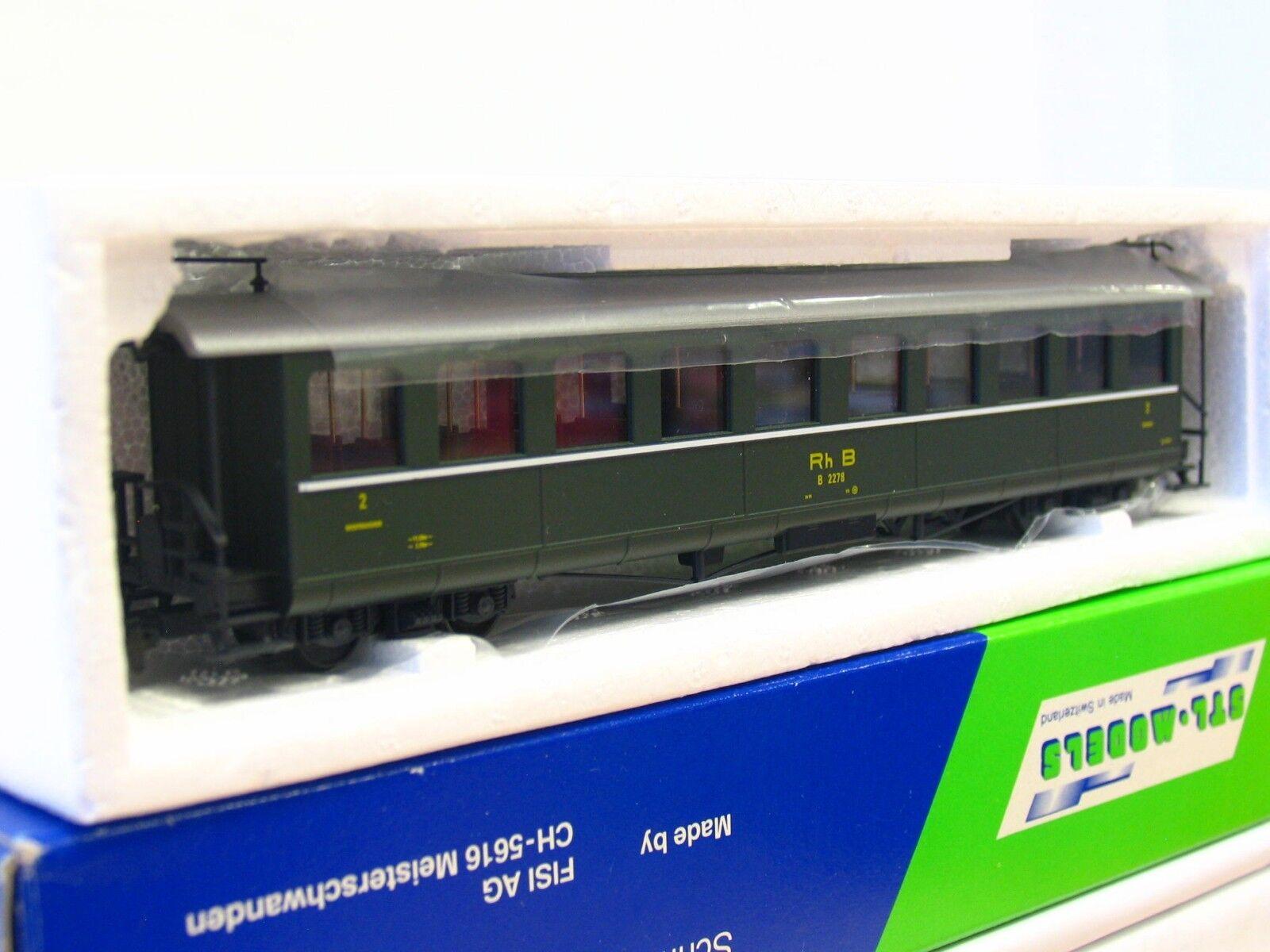 STL-models h0m 2201/5 persone carrello B 2278 2. classe RHB OVP  mr2891