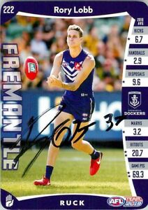Signed-2019-FREMANTLE-DOCKERS-AFL-Card-RORY-LOBB
