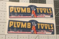 Plomb Tools War WW2 decals vintage tool box 1940's vinyl 4 3/4? For Inset set 2