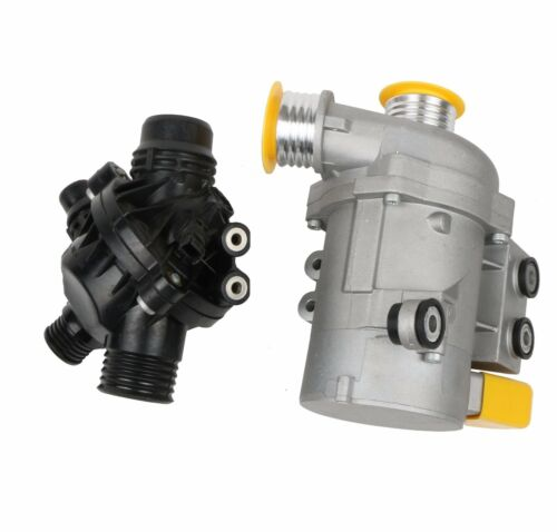 New Electric Engine Water Pump and Thermostat For BMW X3 1 3 5 Series