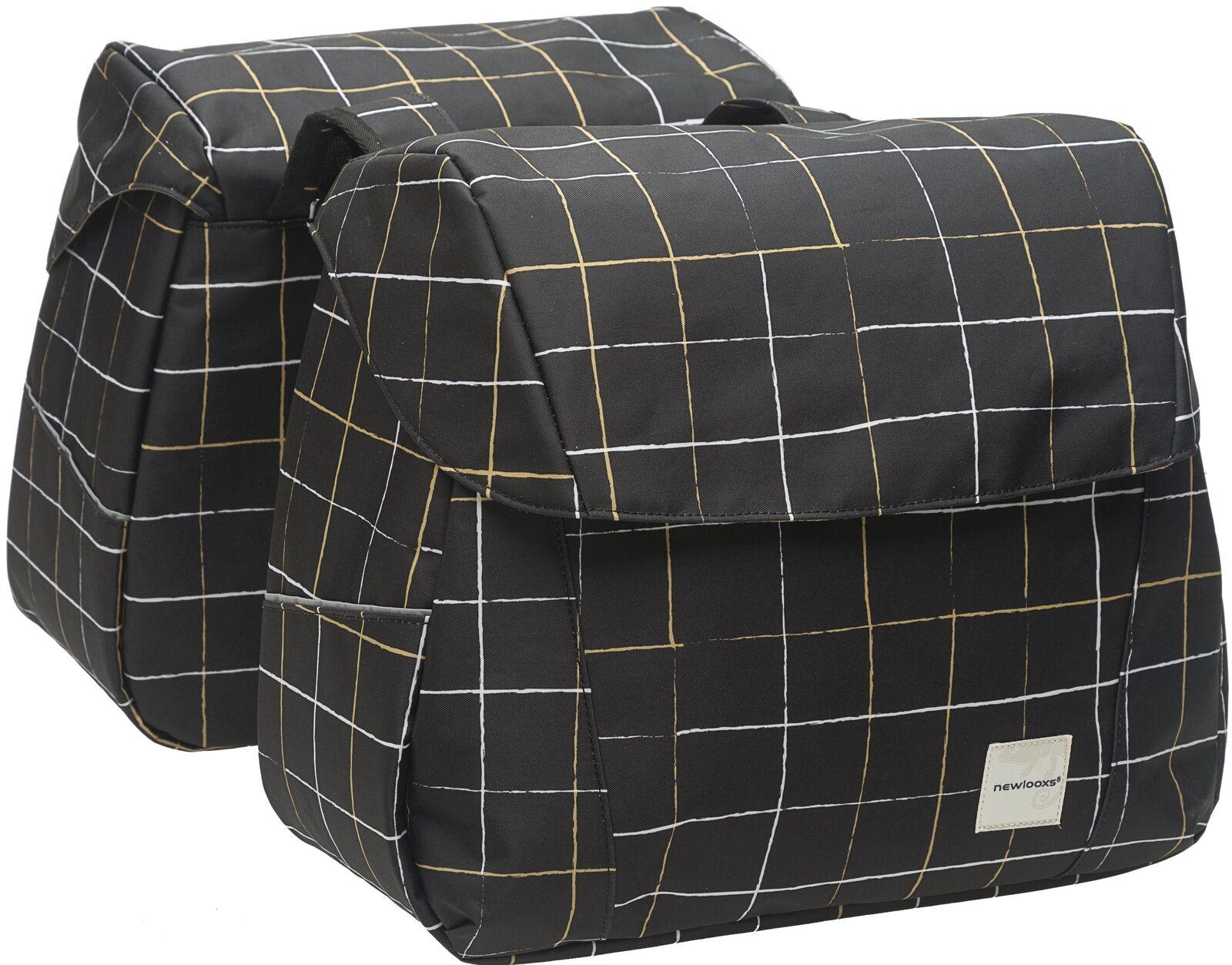 Doppelpacktasche New Looxs Joli Double - 37 ltr. - check schwarz