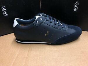 BOSS-HUGO-BOSS-Men-039-s-Trainers-Lighter-Lowp-NASD-In-401-Dk-Blue