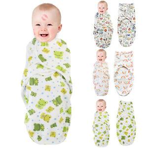 Newborn Infant Baby Boy Girl Swaddle Wrap Sleeping Bag Blanket