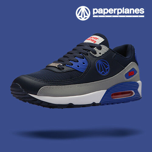 Paperplanes Mens Athletic shoes Air Cushioned Walking Running Sneakers 1101 NBG