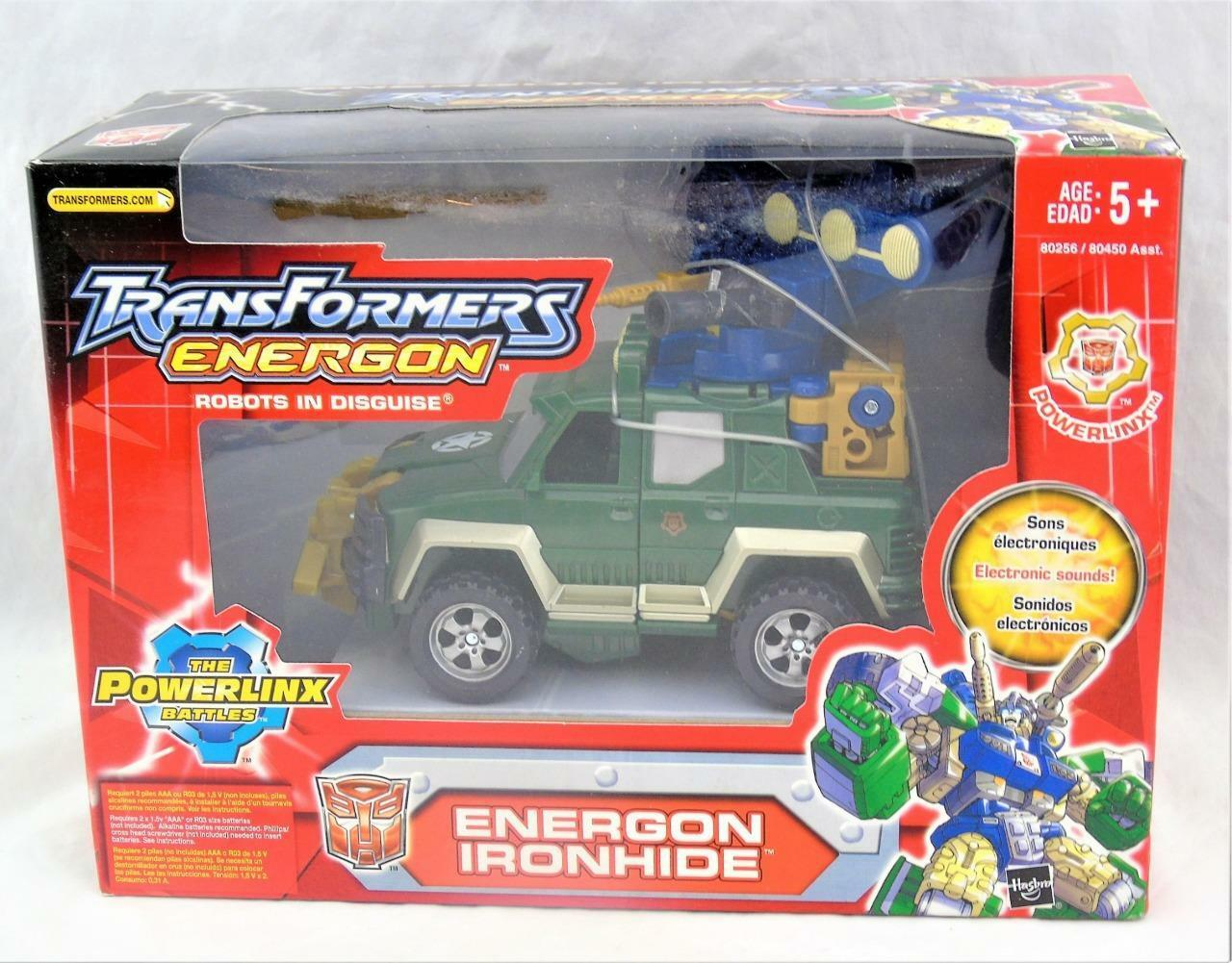 Transformers Energon 2004  RID Power Linx Vert Ironhide Hommesthe en Boîte Scellée  dans les promotions de stade