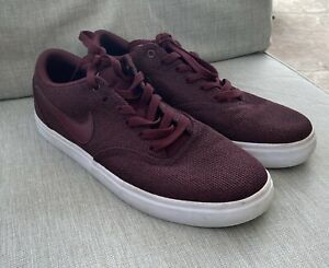Details about NIKE SB CHECK Solar CVS P Maroon Red Skate Athletic Shoe Sneaker Women's 9.5