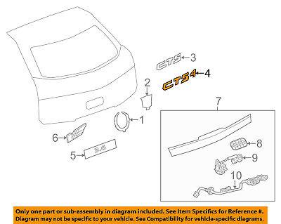 Cadillac GM OEM 08-14 CTS Trunk Lid-Emblem Badge Nameplate 25841627