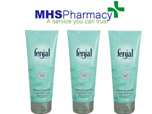 3x Fenjal Luxury Classic Skin Creme Cream Natural Oil Body Wash 200ml