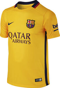 Image is loading Nike-FC-Barcelona-Away-2015-16-Junior-Football- d56a67ee01964