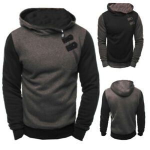 Men-039-s-Hoodies-Long-Sleeve-Hooded-Sweater-Pullover-Sweatshirt-Jumper-Outwear-Coat