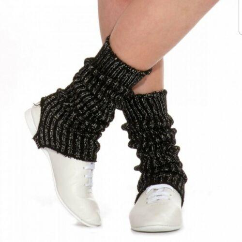 Black sparkly  LEG WARMERS 40cm