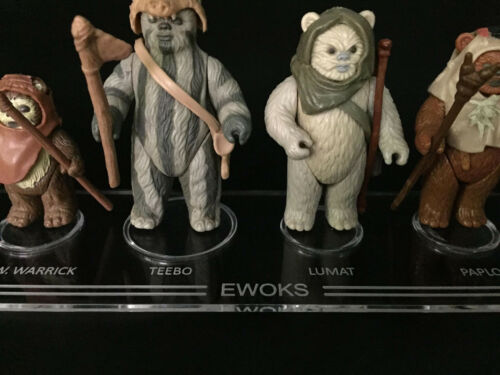 Vintage Star Wars Ewoks Stand 1 x Synergy Stands display stand only