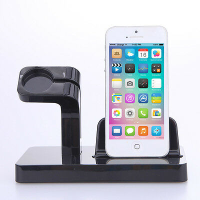 2 in 1 For iPhone 7 Apple Watch iWatch Charging Dock Stand Bracket Mount Holder