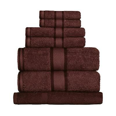 Chocolate Brown 100% Cotton Towel Range Sets or Pcs Bath Sheet Towel Hand Face M