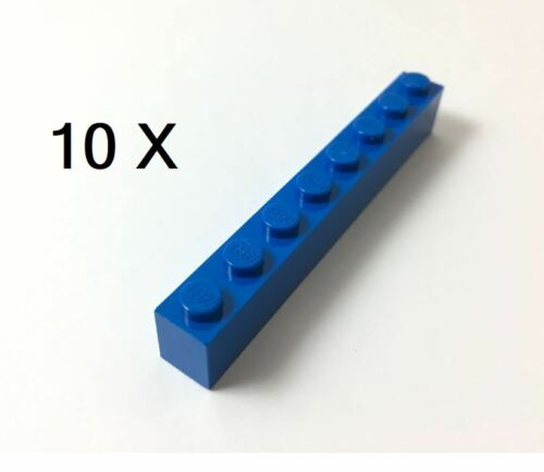 Blue 1 x 8 Part No 3008 Pack of 10 LEGO® Brick