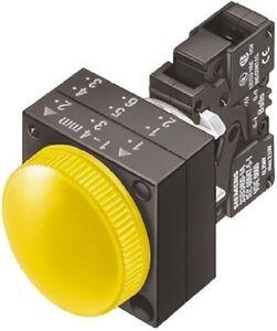 Spia-3SB3248-6BA30-a-led-110-v-giallo-foro-22-3mm-Montaggio-a-pannello-IP66