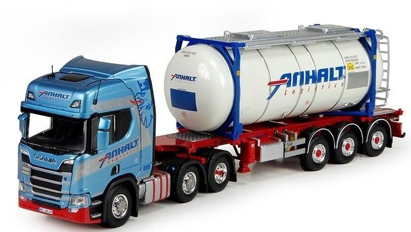 TEK72227 - Camion 6x2 SCANIA R Highline et remorque porte container 3 essieux av