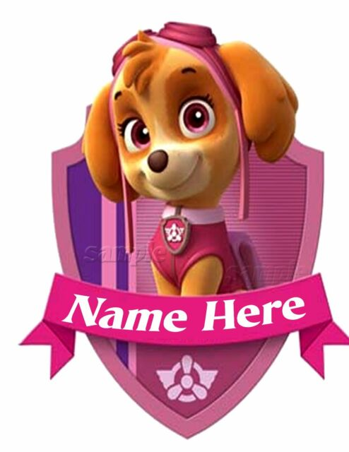 PAW PATROL SKYE PERSONALIZED BIRTHDAY T SHIRT ADD NAME GIFT PARTY FAVORS TEE