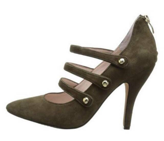 Women's Shoes Vince Camuto JAMILY Pumps Heels Olive Green Drab True Suede