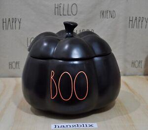 Rae-Dunn-BOO-Pumpkin-Canister-Black-Orange-Letter-Large-NEW-HTF-Halloween-039-20