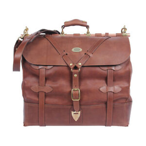 b9c33fe2106e Details about Leather Grip Brown Travel Bag Carry on Luggage Weekender  Duffle USA Made No. 4